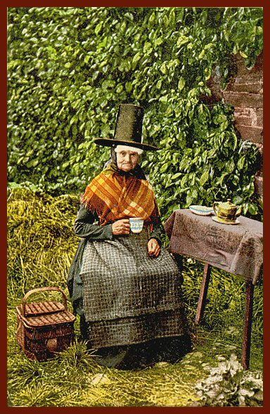 A badass looking granny in Welsh costume c. 1905