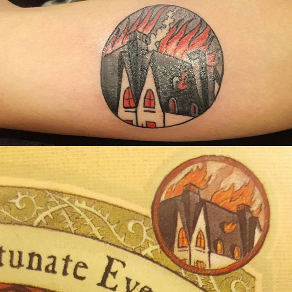 A Series Of Unfortunate Events I will add this to my collection of circular tattoos