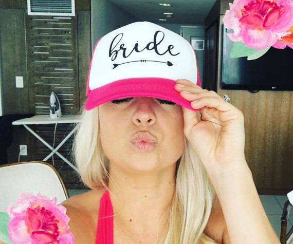 NEON Bachelorette Party Hat / Bride Tribe by MJsBridalSupport