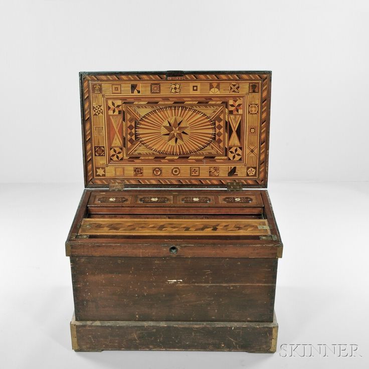 Elaborately Inlaid Cabinetmaker's Tool Chest | Sale Number 2838M, Lot Number 209 | Skinner Auctioneers