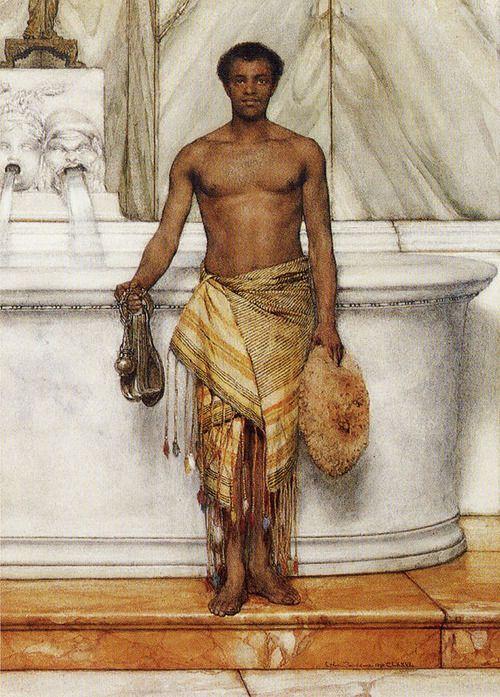 A Balneator, 1877 - Lawrence Alma-Tadema (Dutch, 1836-1912),