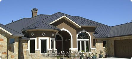 burnished slate metal roof houses | Many residential metal roofs now utilize reflective pigment technology ...