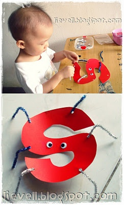 """S"" craft spider good idea for kids learning their letters/alphabet"