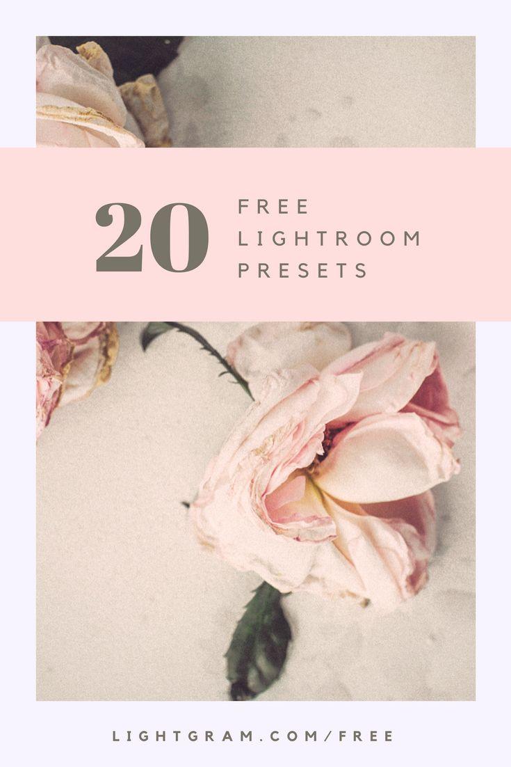 20 FREE LIGHTROOM PRESETS - Download here: https://www.lightgram.com/freebies-lightroom-presets/