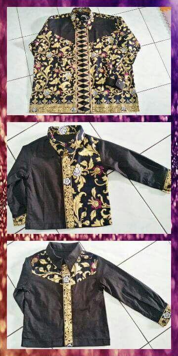 Kemeja batik kombinasi