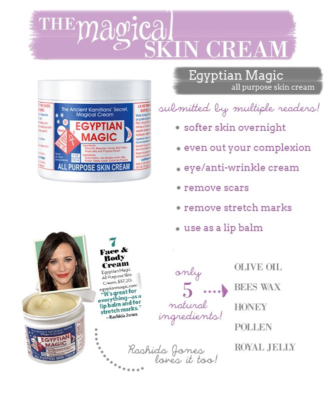The Magical Skin Cream: Egyptian Magic, you can get this at Whole Foods I hear, $40. Supposed miracle cream, I am going to pick some up. I know people who swear by it.