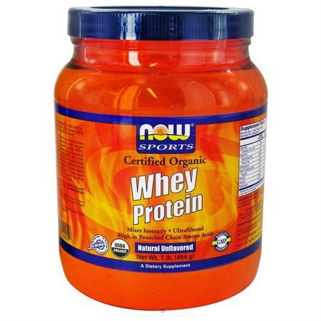 Whey Protein Natural Unflavored Organic Now Foods 1 lbs Powder - Rakuten.com