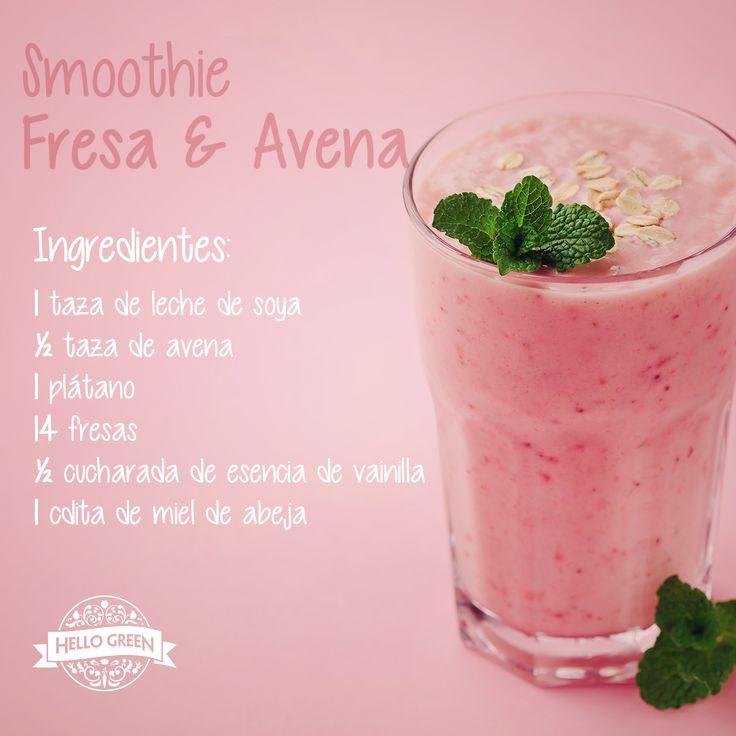 Empieza la semana llena de energía, vitaminas y nutrientes con este #smoothie. #ConsumeOrgánico #HelloGreen