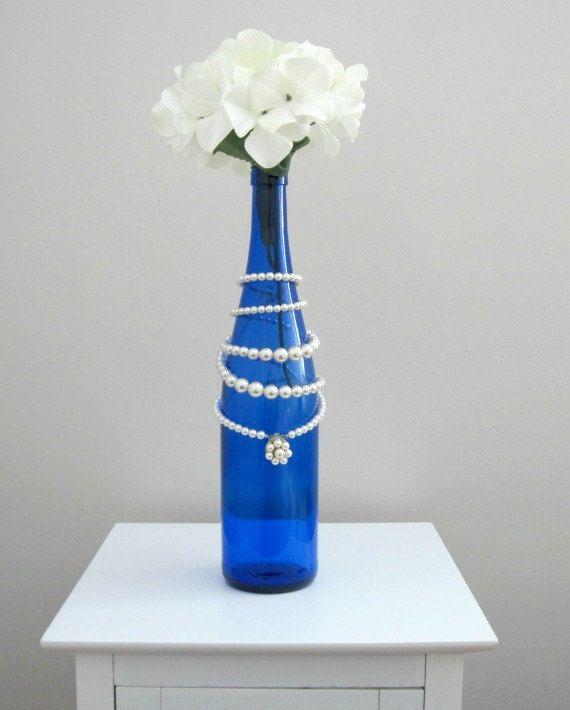 Cobalt Blue GlassBlue Glass VaseRomantic Home by WillowCreekGlass, $25.00