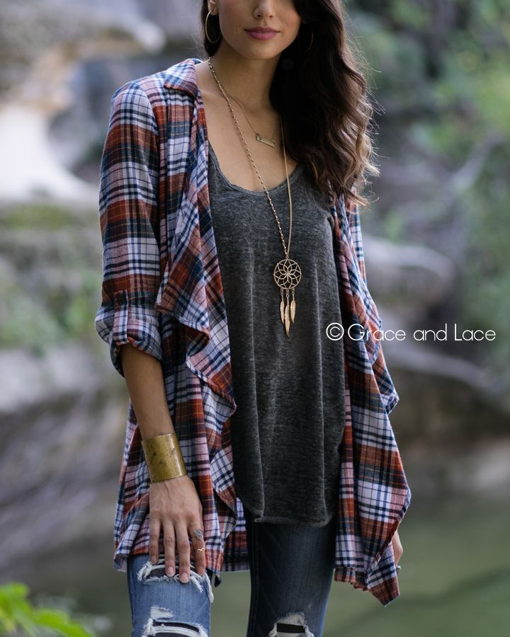 Grace and Lace - (**new item**) Lace Flannel Cascade, $47.00 (http://www.graceandlace.com/all/new-item-lace-flannel-cascade/)