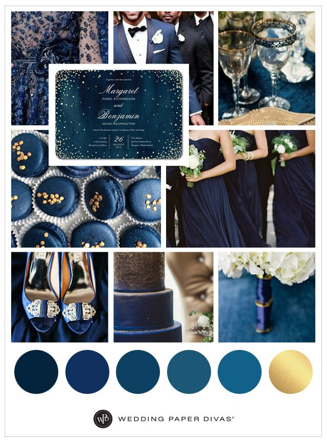 navy blue wedding inspiration board