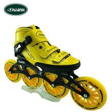 Patines Botas De Fibra De Carbono Profissional Rolo Patins Inline Patins de Slalom Sapatos Patinação de Velocidade Patins rodas 4 rodas Rolo(China (Mainland))