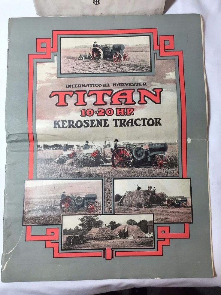 International Harvester Titan 10 20 HP Kerosene Tractor Sales Brochure Original | eBay