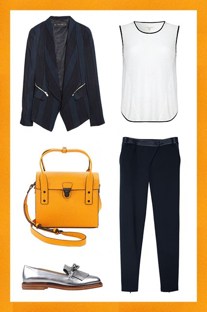 First-Day Outfits Suited For Life, Not Just School #refinery29  http://www.refinery29.com/first-day-outfits#slide1  The First Day Of Your New Job This is probably the adult scenario that comes closest to that first-day-of-school feeling. You've got a lot to learn, and a lot of new people to meet. You want to give an impression of