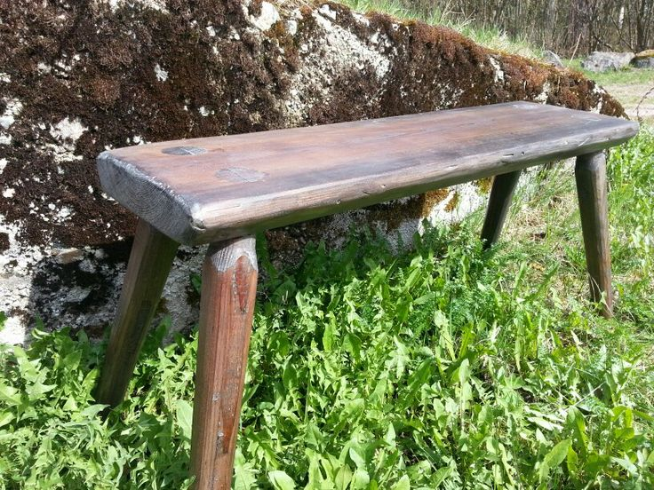 Time to have a break. Old style. Hand made. Tuomaala bench by Laatikkokauppa