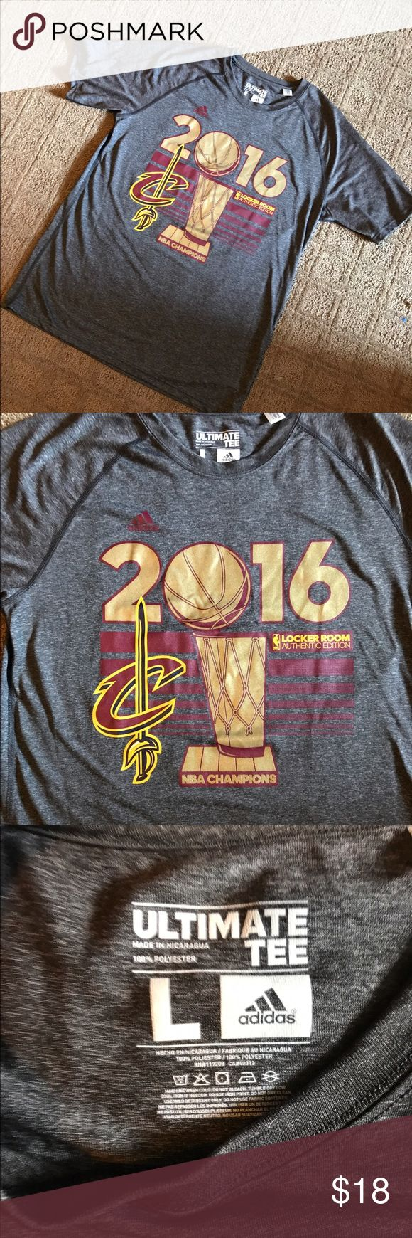 Cleveland Cavaliers 2016 NBA Champs Shirt This is an adidas ultimate t-shirt that was the locker room addition when the Cleveland Cavaliers won the 2016 NBA Championship. adidas Shirts Tees - Short Sleeve