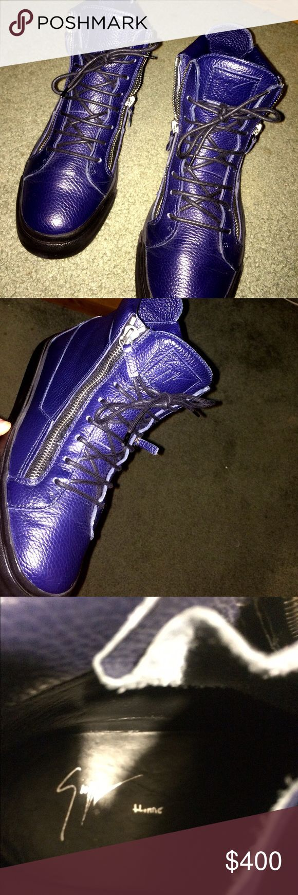 giuseppe's sneakers size 42 size 42 only wore twice..looking for 400$ or a  good trade don't matter! Giuseppe Zanotti Shoes Sneakers