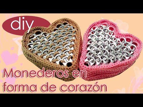 Monedero en forma de corazón con anillas ideal para regalar en San Valentin | Manualidades