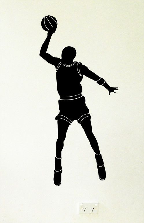 This is my basketball player wall sticker/decal shooting some hoops. He is available in small, medium and large. In black and red...https://www.moonfacestudio.com.au/product-page/basketball-player-wall-sticker-decal