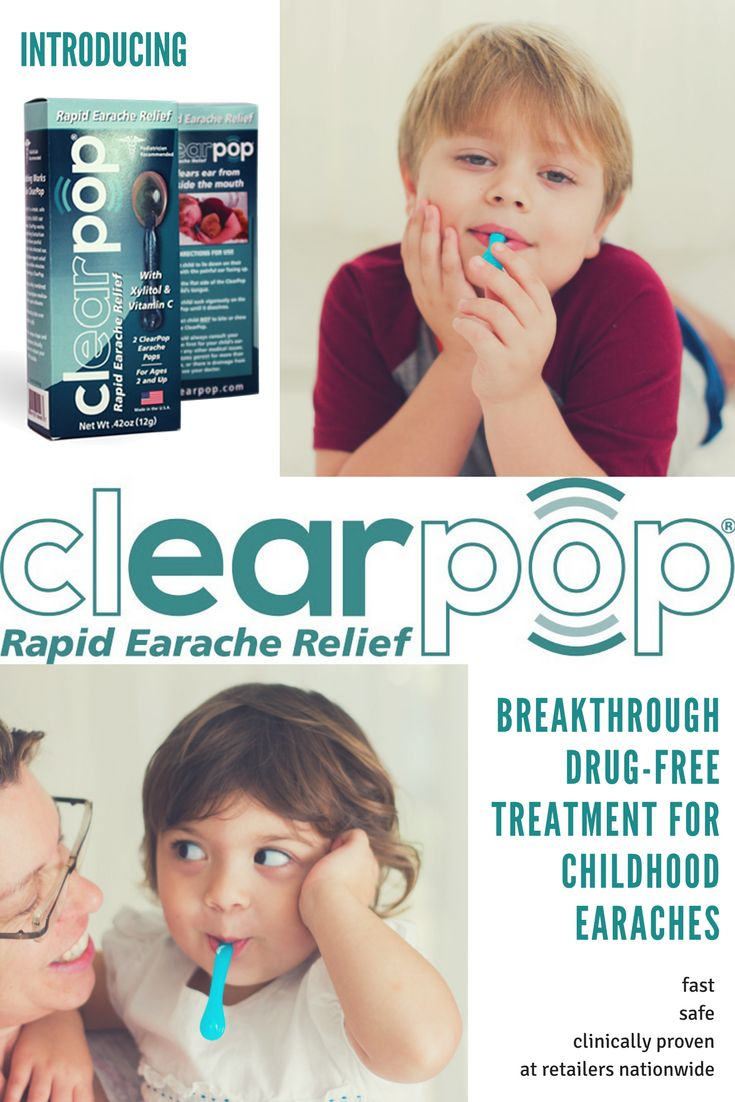 ClearPop® is the game-changing, over-the-counter earache treatment that uses natural biomechanics and medicine-free ingredients to provide earache relief.