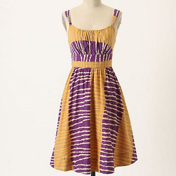 Anthropologie leifsdottir summer twilight dress violet