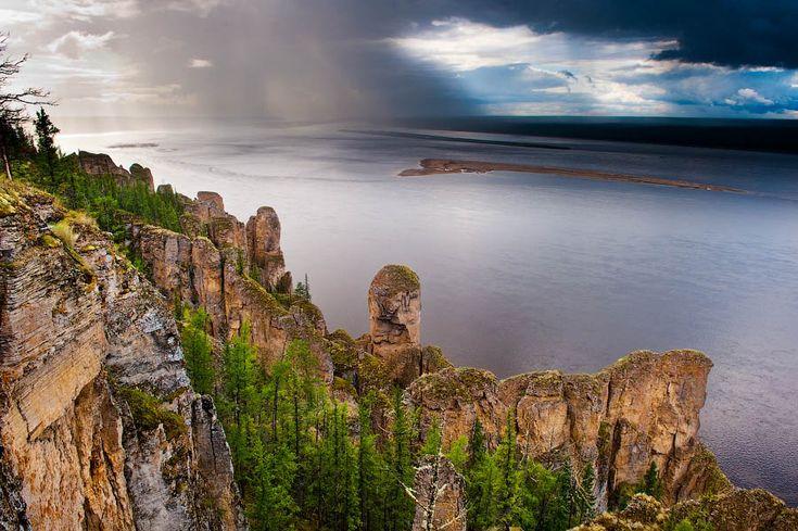 Lenafelsen, Sibirien