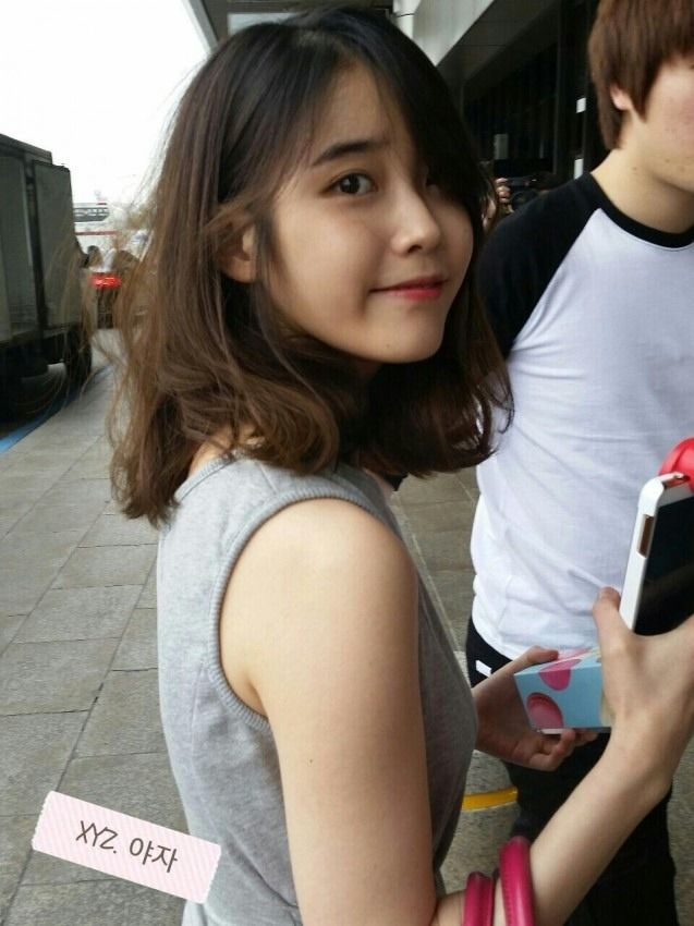 IU shoulder length hair - so…