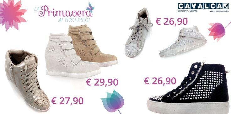 Per il rinnovo del guardaroba in vista della bella stagione inizia dalle #Sneakers! #Cavalca #Varese #Arcisate #scarpe #shoes #moda #donna #abbigliamento #fashion #calzature