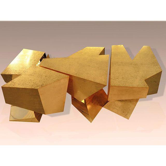 The Gold Quartz Table Garridogallery Padparislondon2015 Pad London