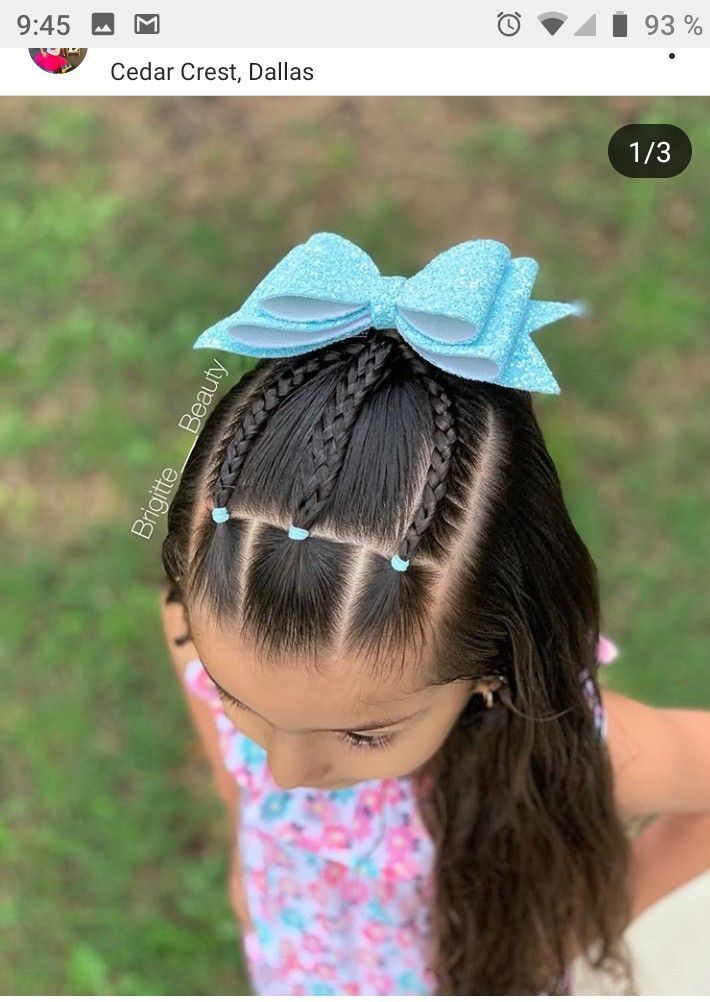 """Amber 🎀🌸💜 Toddlerhaircreations on Instagram: """"Elastic sections and pi…"""