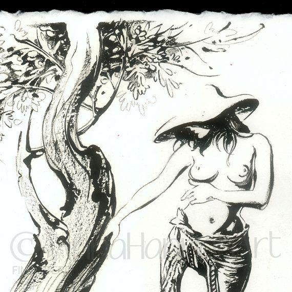 """Faith Healing""- pen&ink drawing - detail"