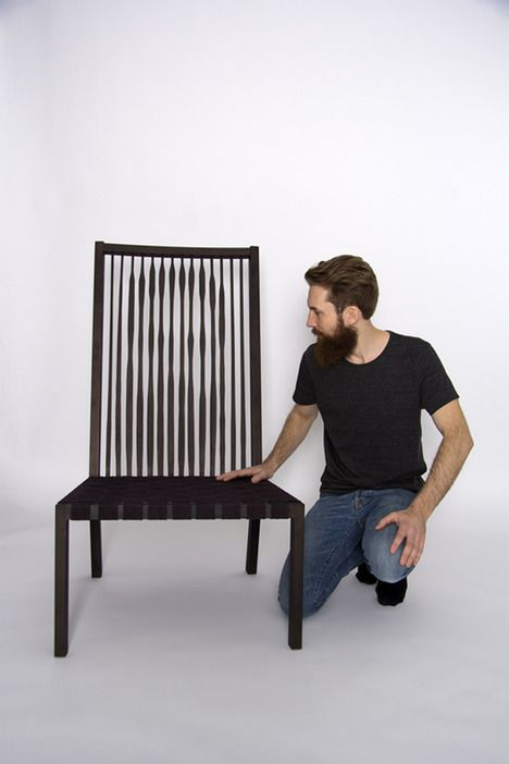 The backrest of this Illusion Chair looks like its designer / by Gabriel Särkijärvi