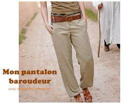 Vous recherchez un patron de couture facile pour la confection de vos pantalons. découvrez la  liste de patrons gratuits du net qui vous permettra de réaliser le pantalon de votre choix : pantalon fluide, baroudeur, jupe-culotte, créer son patron sur mesure, bas de pyjama ....