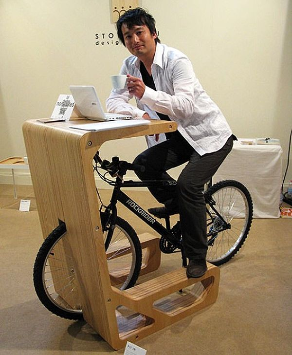 Pit-in // table designed to be places outside cafes for cyclists: Office, Work, Ideas, Desks, Things, Bike Desk, Design, Bicycle