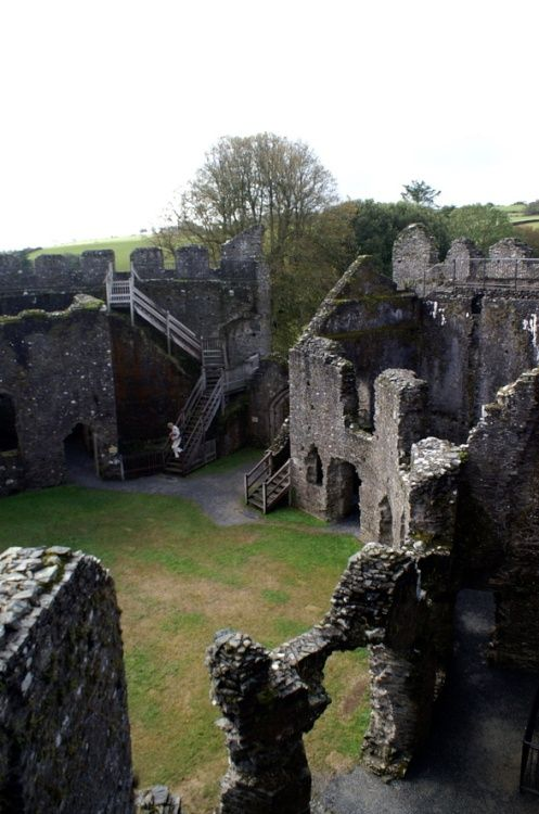 The lone visitor in Restormel Castle, Corwall