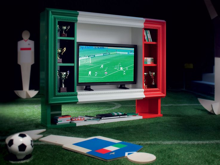 Lacquered TV cabinet with shelves SPORT ADDICTED by Modenese Gastone group