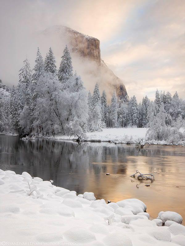 Yosemite National Park in winter - absolutely beautiful. Breathtaking.