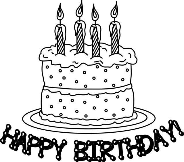 58 Best Happy Birthday Coloring Pages Images On Pinterest Happy - coloring page birthday cake no candles