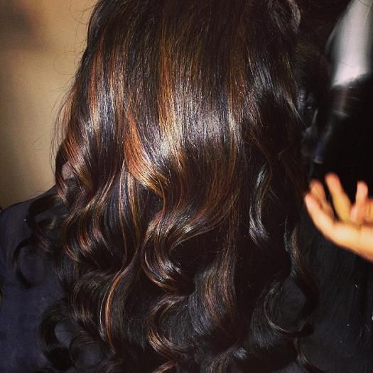 for the ones who have black hair caramel highlights