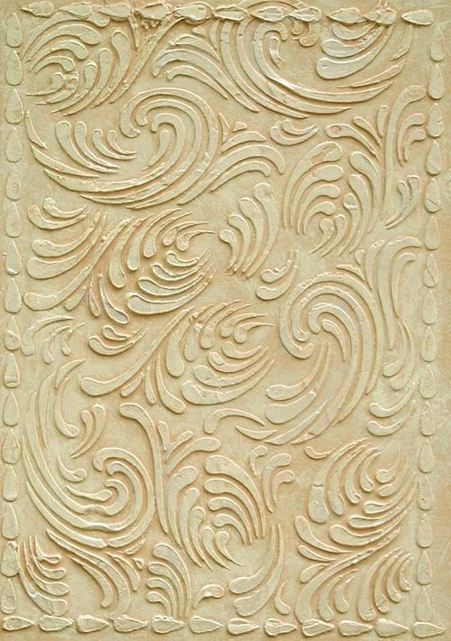 Raised Plaster Stencil Swirls Texture Wallpaper by ElegantStencils