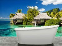 Bath room is a place to relax and have some me time with fotowall wall decor ideas you can create an beautiful and relaxing environment at your own bath room. These bath room wall decor ideas can take you to Bali, Hawaii or anywhere you like. Absolutely stunning.