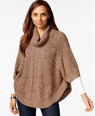 Karen Scott Cowl-Neck Poncho Sweater, Only at Macy's - Sweaters - Women - Macy's