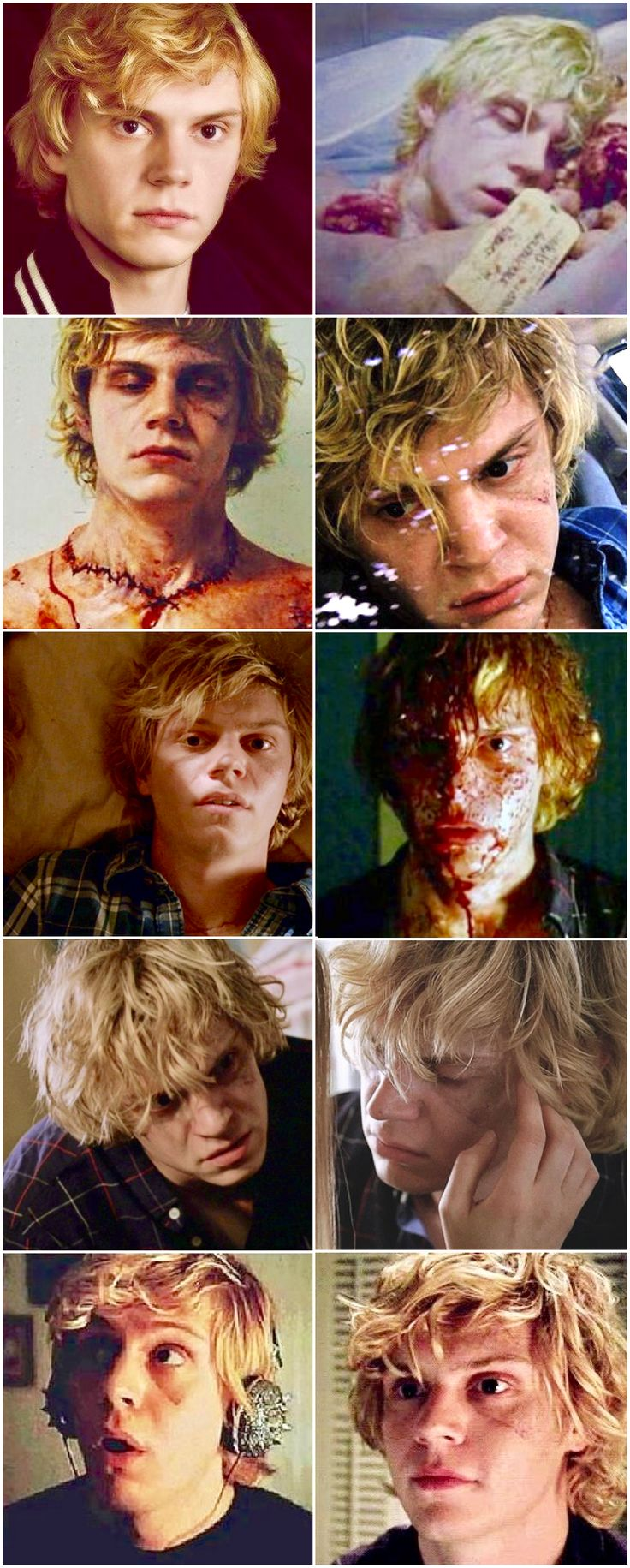 Evan Peters Megapin! Kyle Spencer, the Jigsaw Puzzle Boy in AHS Coven. One of Evan's more underrated performances. He was very very good actually. | Follow rickysturn/evan-peters now!