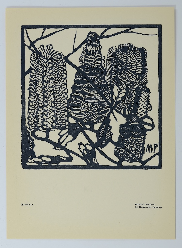 Original woodcut by Margaret Preston