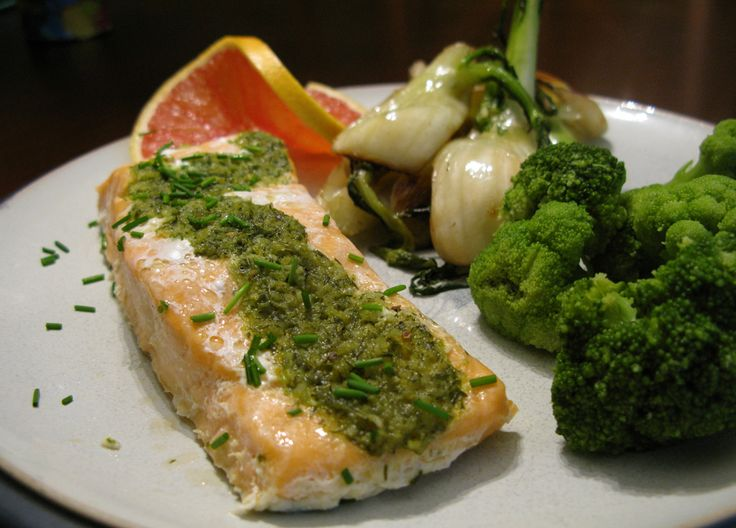 Parchment Salmon with Herb Butter