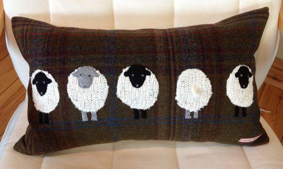 5 Basket Weave Sheep Tweed Rectangle Cushion
