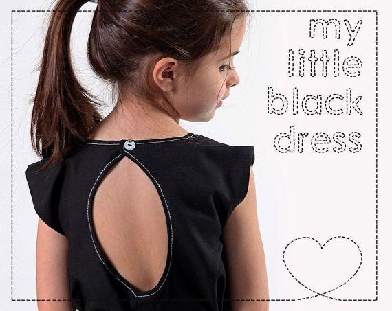 Handmade black girls' dress by LaLoOLa on Etsy