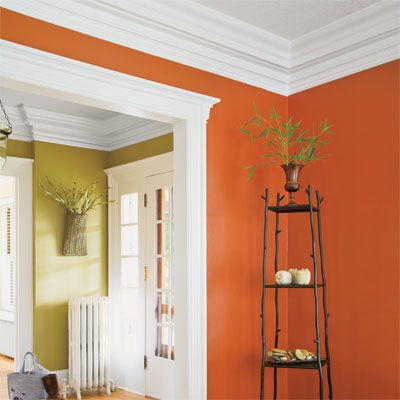 Color experts generally suggest reinforcing a warm wall color, like peach or marigold, with a warm, creamy white. When walls are a cooler color, like steel gray, turquoise, or blue-green, a cooler white usually feels right | thisoldhouse.com | from The Best Power Paint Colors for Your Rooms