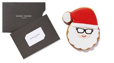 warby parker gift card + hand iced cookie = the perfect christmas ...