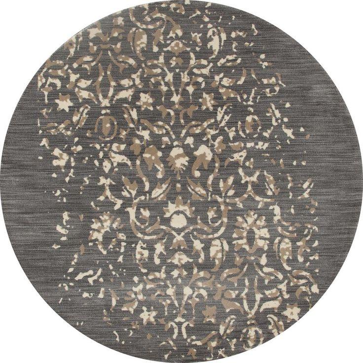 Art Carpet Milan Isabella Gray 7 ft. 10 in. x 7 ft. 10 in. Round Area Rug